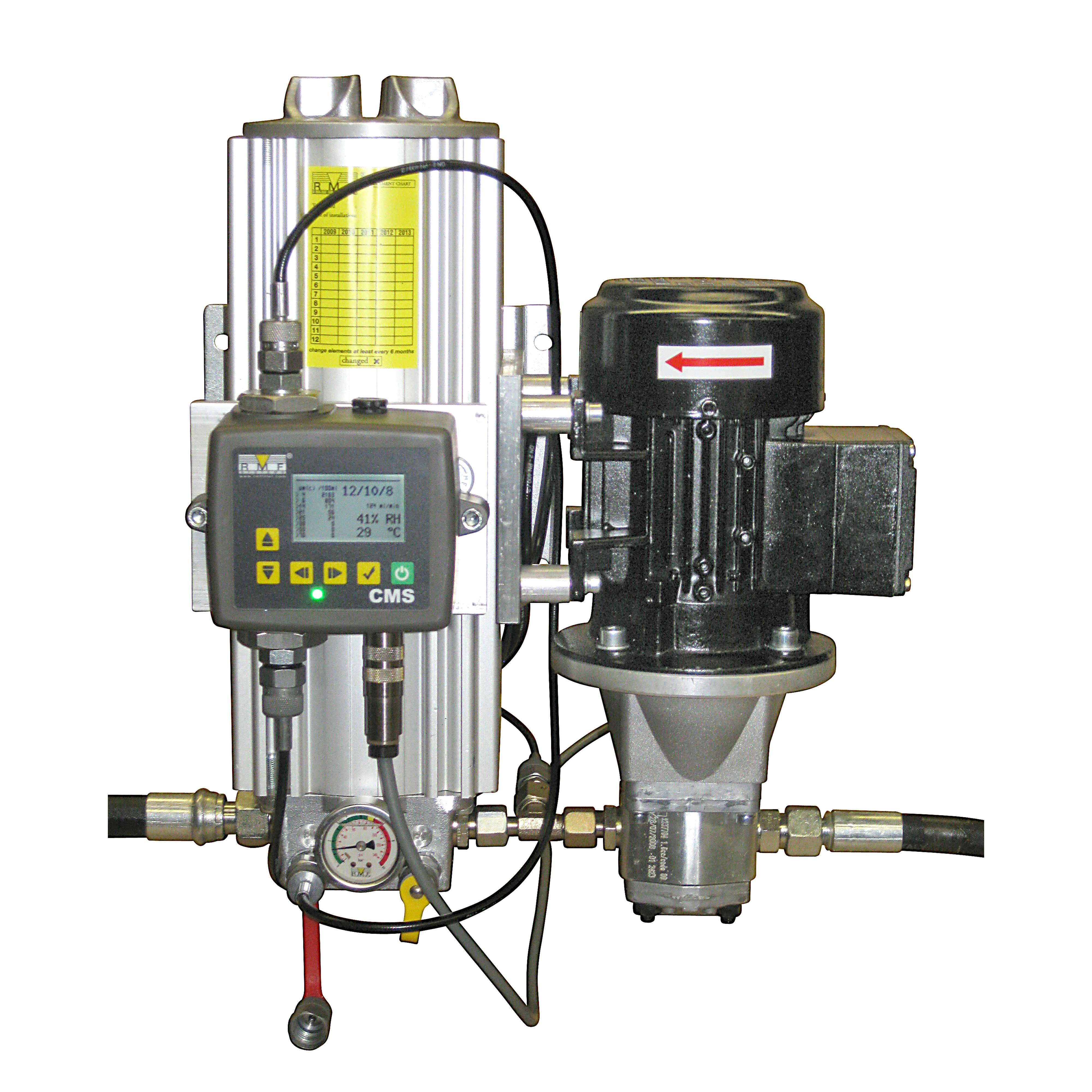 Sirkulasjonsfilter med partikkelteller for vedlikehold av hydraulikk olje, varenummer OLUS2B30HB010000