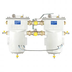 Duplex filterhus for brennstoff med vannutskiller, varenummer SWK2000130UMW01VAC