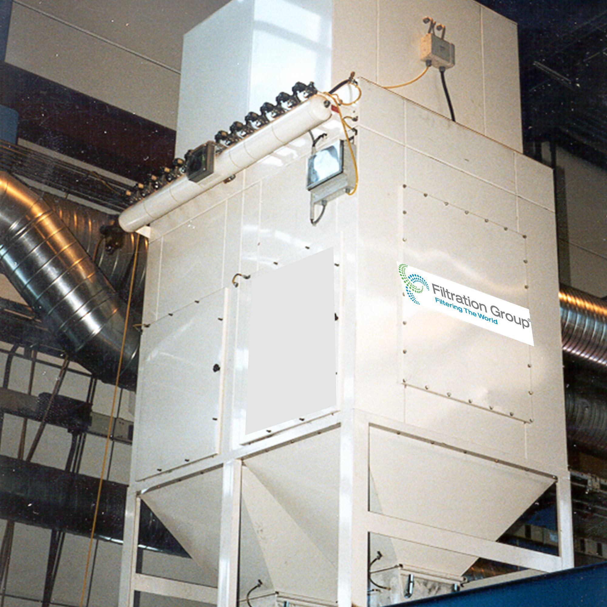 Komplett støvfilteranlegg for industri