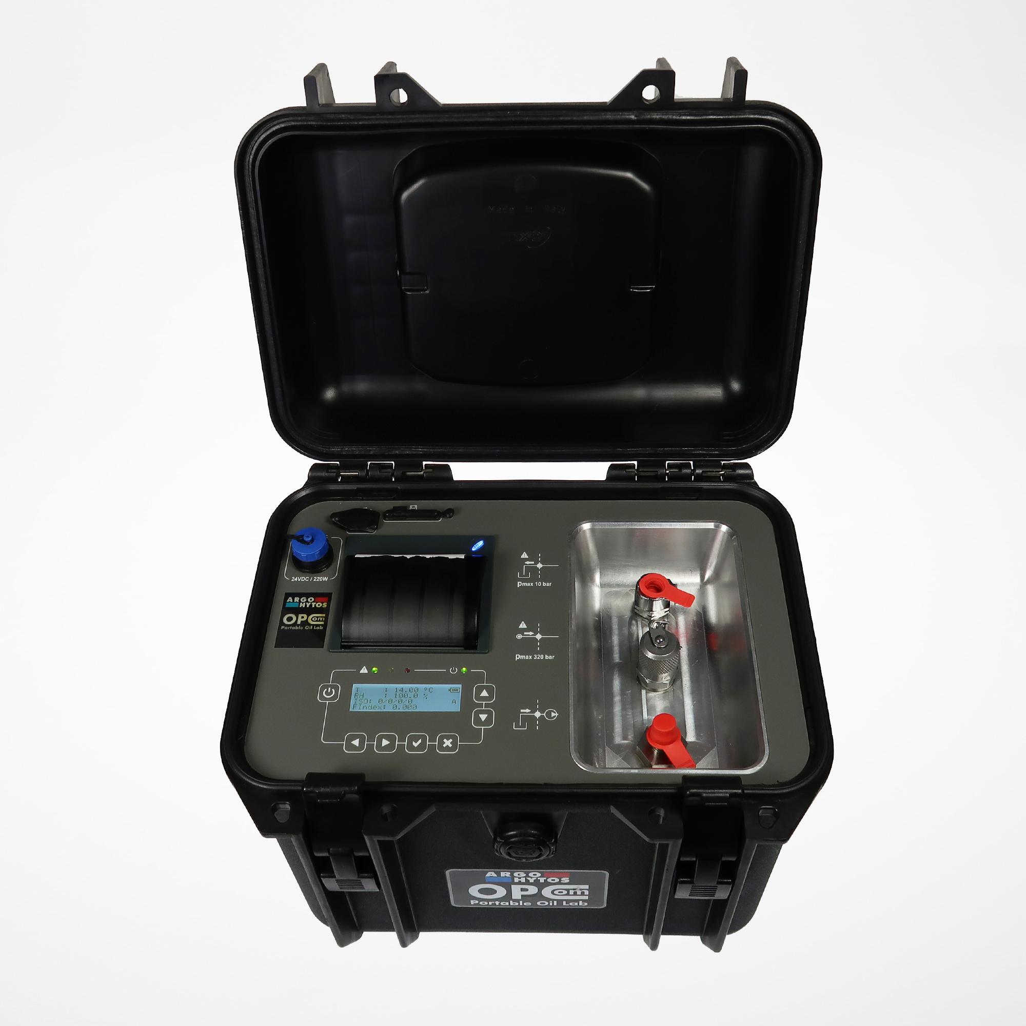 Mobil partikkelteller for hydraulikk og smøreolje, varenummer OPCom-Portable
