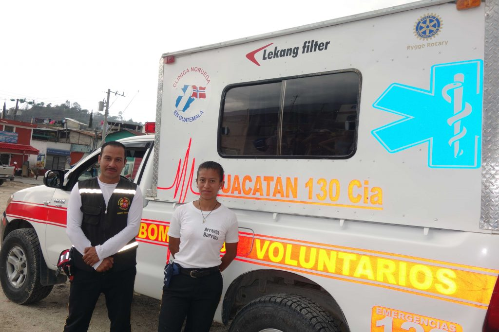 Lekang Filter julegave til Clinica Noruega Ambulanse i Guatemala