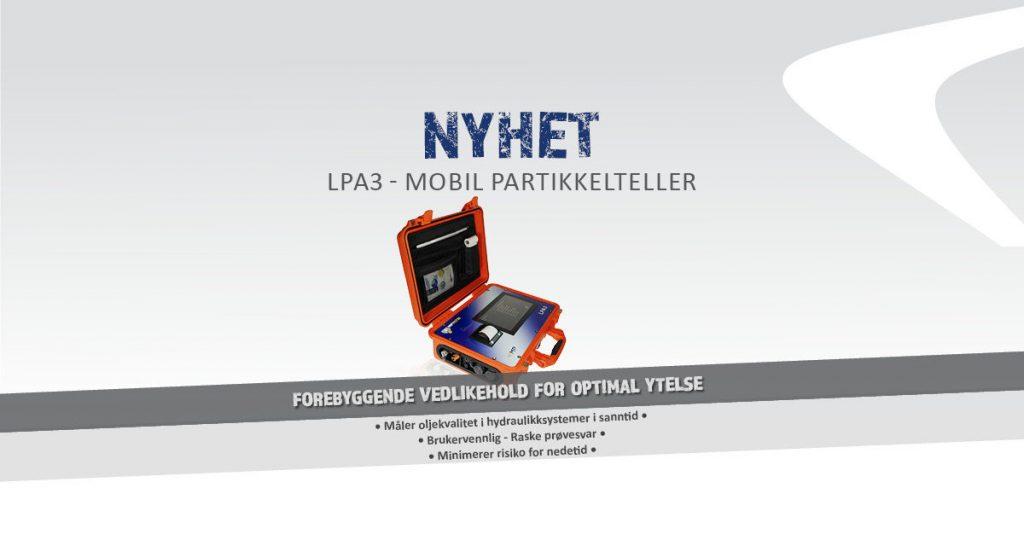 LPA3 mobil partikkelteller måler oljekvalitet i sanntid