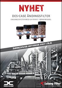 Des-Case åndingsfilter (pustefilter) med giftfritt tørkemiddel