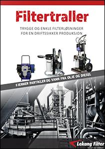 Filtertraller for vedlikehold av olje og diesel