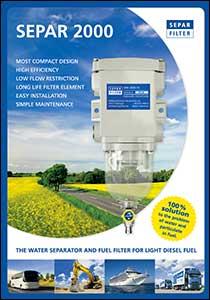 Last ned brosjyre med Separ SWK 2000 serien med filterhus forfilter til diesel med vanutskiller