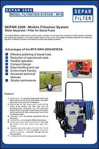 Last ned brosjyre med filteraggregat for rensing av diesel, varenummer SWK200040MO